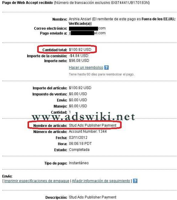 Studads Payment Proof