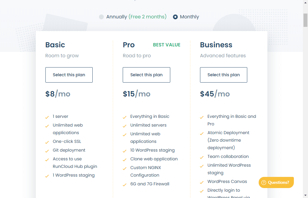 runcloud pricing
