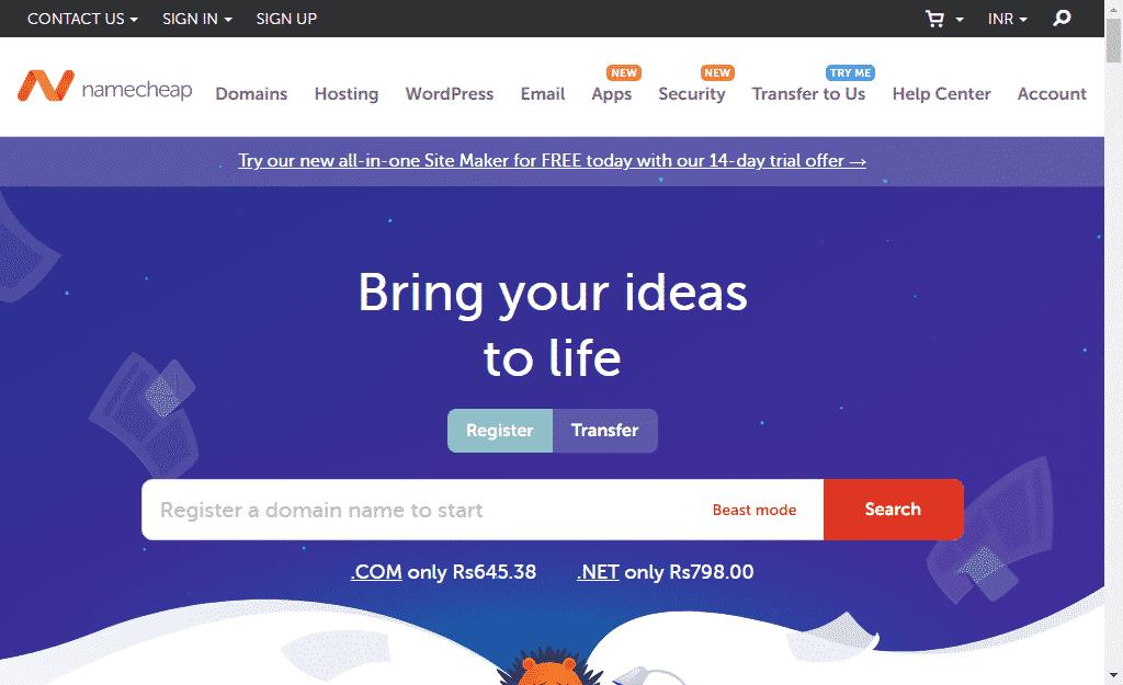 namecheap cloud hosting