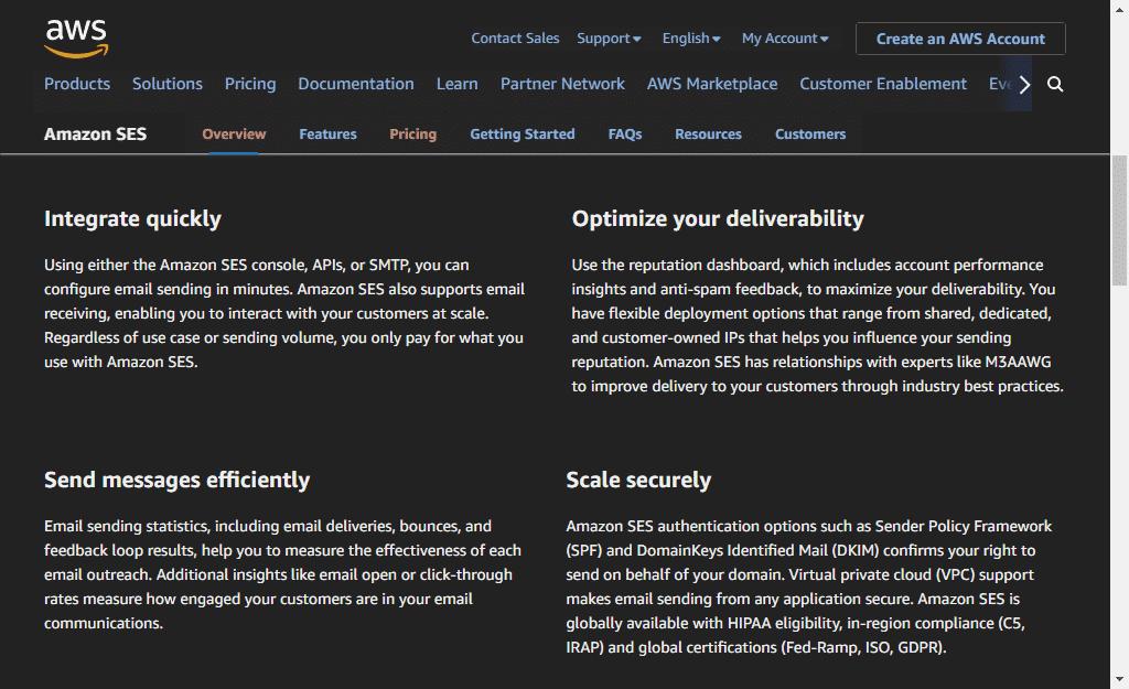 AWS SES Sendgrid Alternative
