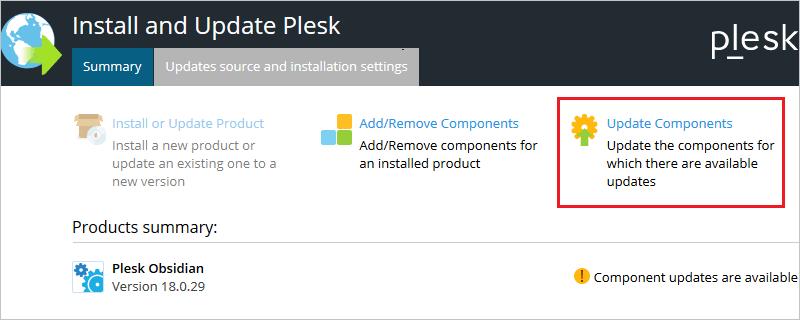plesk image update