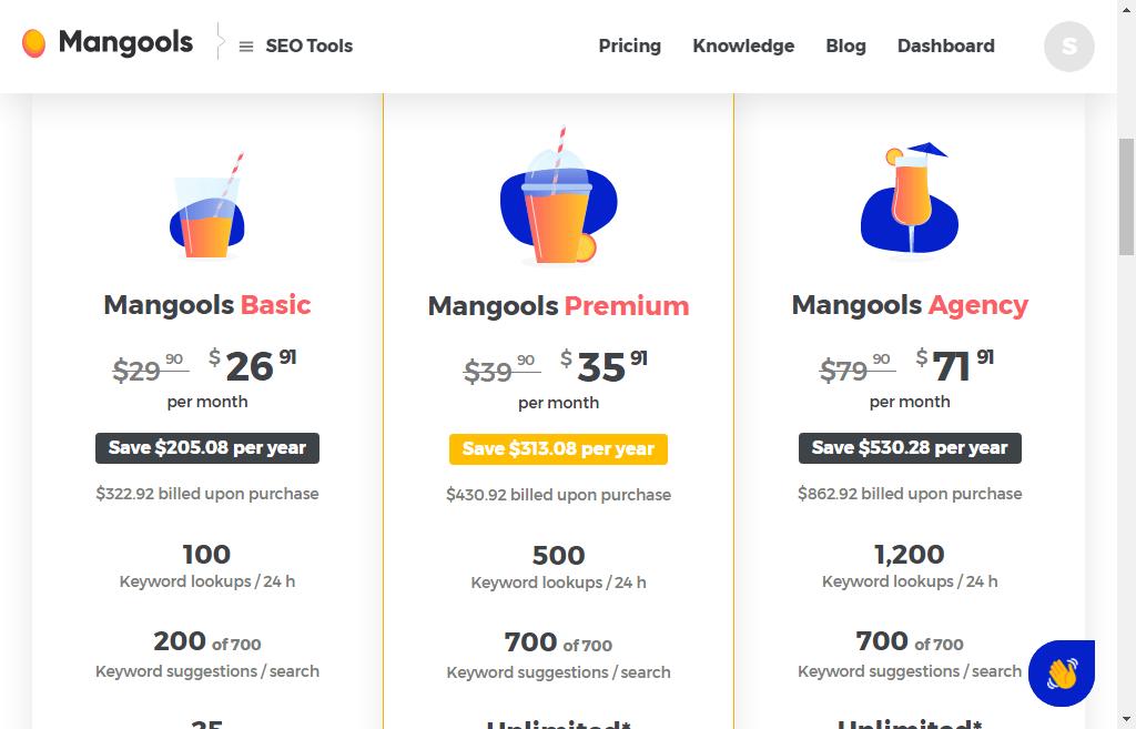 mangools seo tool pricing