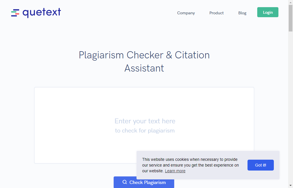 quetext Plagiarism Checker Tool